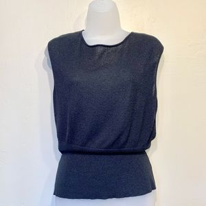 The Limited Sleeveless Sweater Cinched Waist Tank